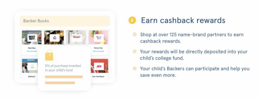 CollegeBacker cashback rewards
